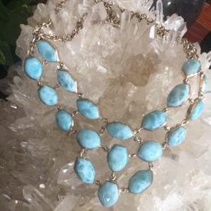 Larimar Matinee Statement Necklace