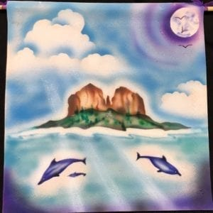 Cathedral Rock with Dolphins by Susan Lovit